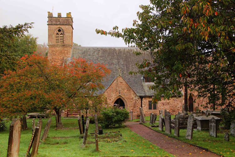 St Michael's Chruch Mitchel Troy in the Autumn