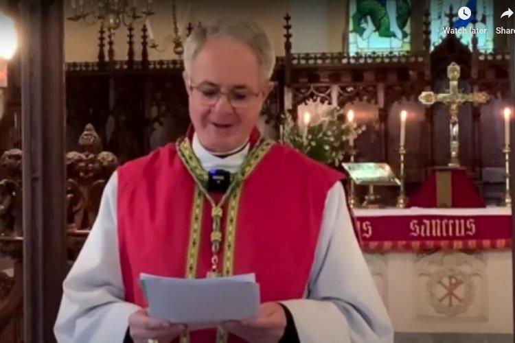 Bishop Dominic preaching at St Wonnows