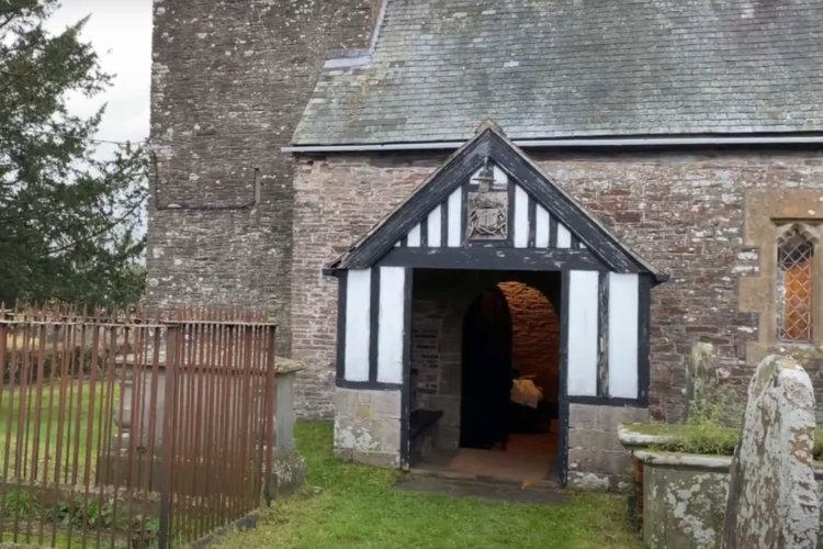 St Martins Church Penyclawdd near Monmouth