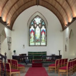 St Nicholas Trellech inside altar and east window
