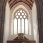 St Nicholas Trellech inside west window