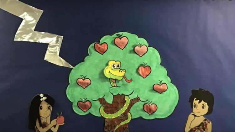 Adam and Eve by Osbaston School